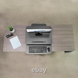 Vivo Hauteur Réglable Bureau Debout Gaz Ressort Riser 25 Tabletop Sit Stand